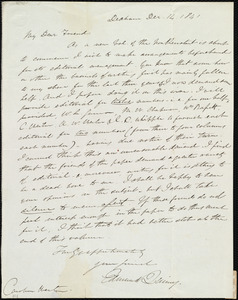 Letter from Edmund Quincy, Dedham, [Mass.], to Caroline Weston, Dec. 14, 1841
