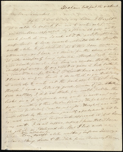 Letter from Edmund Quincy, Dedham, [Mass.], to Maria Weston Chapman, half past 12 o'clock, [1845 Oct.?]
