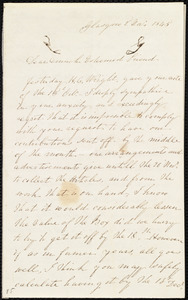 Letter from Catherine Paton, Glasgow, [Scotland], to Maria Weston Chapman, 2'd Nov. 1845