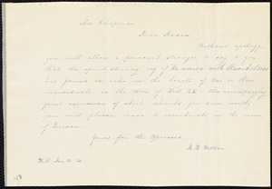 Letter from Mary H. Watson, Hill, [New Hampshire], to Maria Weston Chapman, Dec. 22, [18]45