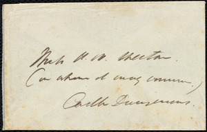 Letter from Edmund Quincy, Dedham, [Mass.], to Anne Warren Weston, July 7, 1846