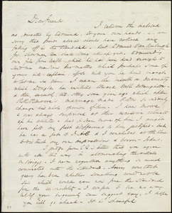 Letter from Wendell Phillips, [Boston, Mass.], to Maria Weston Chapman, [17 Aug. 1846?]