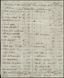 Inventory of box from the Ladies of Perth, [Perth, Scotland], to Maria Weston Chapman, November 1846