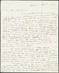 Letter from Edmund Quincy, Dedham, [Mass.], to Caroline Weston, July 2'd, 1847