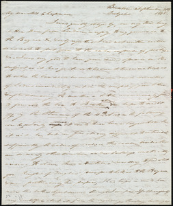 Letter from Joseph Lupton, Buxton, Derbyshire, [England], to Maria Weston Chapman, September 21st, 1848