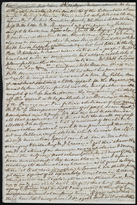Partial letter from Mary Anne Estlin, [Park Street, Bristol, England], to Miss Weston, [September 17, 1850]