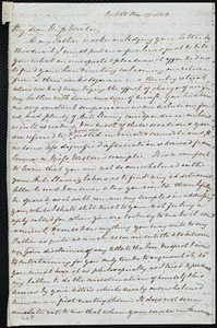 Incomplete letter from Mary Anne Estlin, Park St[reet], [Bristol, England], to Anne Warren Weston, Nov. 15, 1850