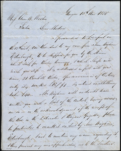 Letter from Andrew Paton, Glasgow, [Scotland], to Anne Warren Weston, 15th Nov. 1850