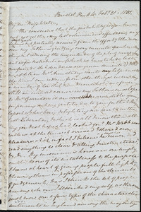 Letter from Mary Anne Estlin, Bristol, Park St[reet], to Miss Weston, Feb'y 21, 1851