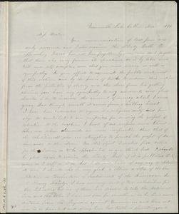 Letter from Clarissa G. Olds, Unionville Lake Co., Ohio, to Anne Warren Weston, Nov. 1851