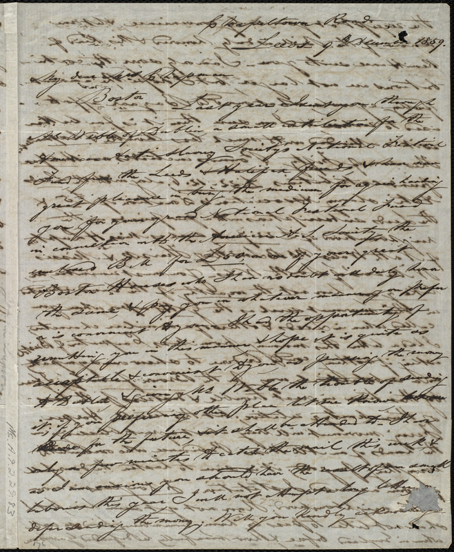 Letter from Joseph Lupton, Chapeltown, Road, Leeds, [England], to Maria Weston Chapman, 9th December 1859