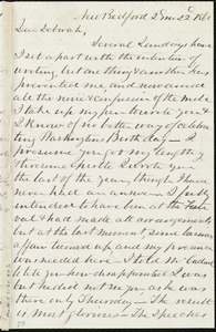 Incomplete letter from Joseph Ricketson, New Bedford, [Mass.], to Deborah Weston, 2 mo[nth] 22 [day] 1860
