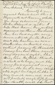 Letter from Joseph Ricketson, New Bedford, [Mass.], to Deborah Weston, 2'd mo[nth] 27 [day] / [18]63