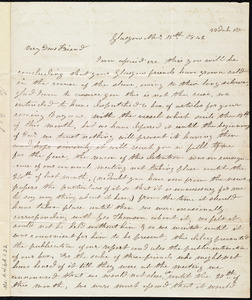 Letter from Mrs. Mary Welsh, 33 Duke St[reet], Glasgow, [Scotland], to Maria Weston Chapman, Nov'r 15th, 1842