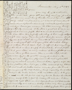 Letter from Frances H. Drake, Leominster, [Mass.], to Maria Weston Chapman, Aug. 6th, 1843