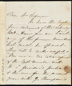 Letter from Sarah Hilditch, [Liverpool?, England], to Maria Weston Chapman, [4 Nov. 1846]