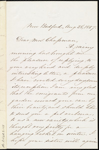 Letter from Abby Osgood Mandell, New Bedford, [Mass.], to Maria Weston Chapman, Aug. 28, 1857