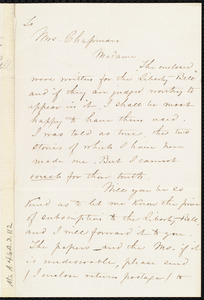 Letter from A. L. Otis, Philadelphia, [Penn.], to Maria Weston Chapman, Dec. 5th / [18]57