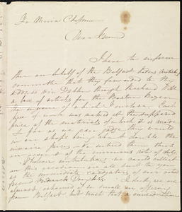 Letter from Maria Webb, Belfast, [Northern Ireland], to Maria Weston Chapman, 12th mo[nth] 2nd [day] [18]47