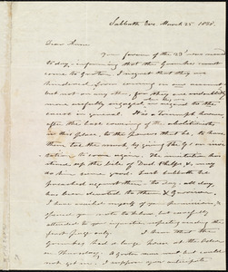 Letter from Amos Farnsworth, [Groton, Mass.], to Anne Warren Weston, Sabbath Eve[ning], March 25, 1838