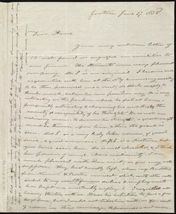 Letter from Amos Farnsworth, Groton, [Mass.], to Anne Warren Weston, June 27, 1838