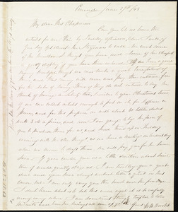 Letter from Mary Merrick Brooks, Concord, [Mass.], to Maria Weston Chapman, June 27th / [18]43