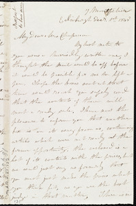 Letter from Mrs. Mary Welsh, 7 Montpelier, Edinburgh, [Scotland], to Maria Weston Chapman, Dec'r 1st, 1845