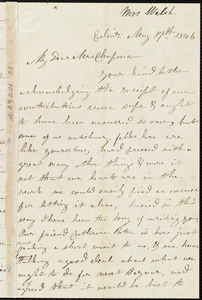 Letter from Mrs. Mary Welsh, Edin[burgh], [Scotland], to Maria Weston Chapman, May 17th, 1846