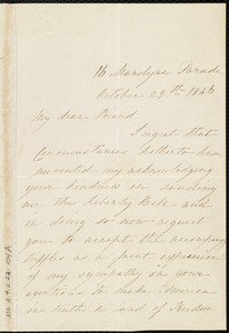 Letter from Mary Mannix, 16 Mardyne(?) Parade, [Cork?, Ireland], to Maria Weston Chapman, October 29th, 1846