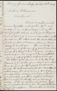 Letter from Mary Brady, Leavy Greave, Sheffield, [England], to Maria Weston Chapman, Dec'r 30th, 1846