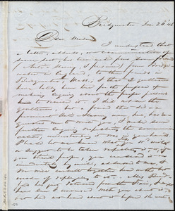 Letter from Claudius Bradford, Bridgewater, [Mass.], to Maria Weston Chapman, Dec. 24, [18]46