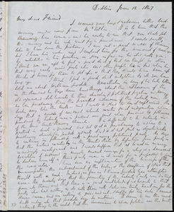 Letter from Richard Davis Webb, Dublin, [Ireland], to Maria Weston Chapman, June 12, 1847