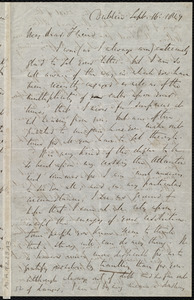 Letter from Richard Davis Webb, Dublin, [Ireland], to Maria Weston Chapman, Sept. 16, 1847