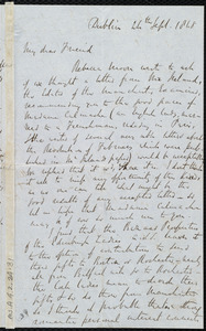 Letter from Richard Davis Webb, Dublin, [Ireland], to Maria Weston Chapman, 24th Sept. 1848