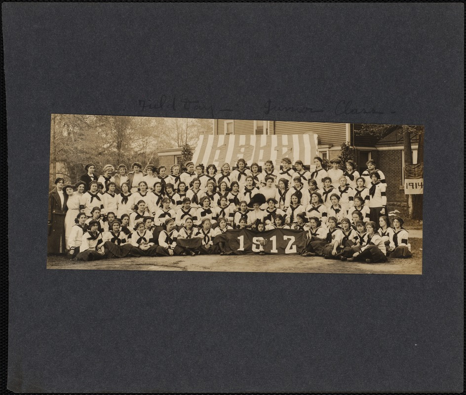 Class of 1912 with Field Day Trophy