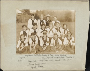 Baseball Team, Sports Day, November 1912