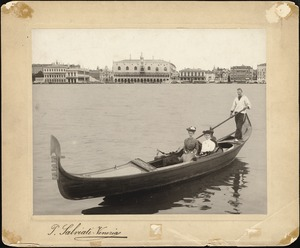 Helen Temple Cooke and Mrs. Mary R. Hunt on a gondola ride, Venice, August 1904