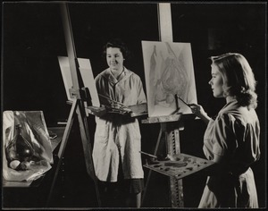 Students Painting a Still Life