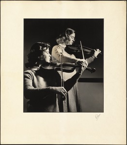 Two Student Violinists