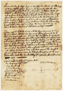 Land deed (handwritten), John and Lidia Morton to Elijah Morton, September 20, 1775
