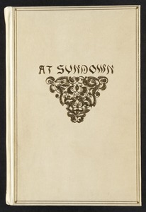 At sundown [Front cover]