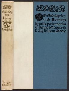 Ballads, lyrics, and sonnets [Spine and front cover]