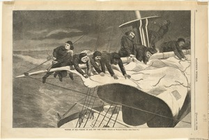Winter at sea--Taking in sail off the coast
