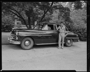 Albert Arzouhaljian at Forest Hills Cemetery, auto standing by