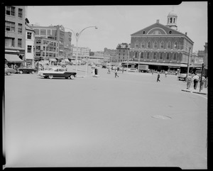 Dock Square. Faneuil Hall Sq. Washington, Elm, Congress and Devonshire Streets