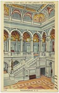 Central Stair Hall of the Library of Congress, Washington, D. C.