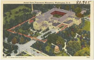 Aerial view, Franciscan Monastery, Washington, D. C.
