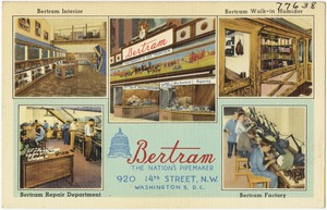 Bertram, the nation's pipemaker, 920 14th Street, N. W., Washington, D. C.
