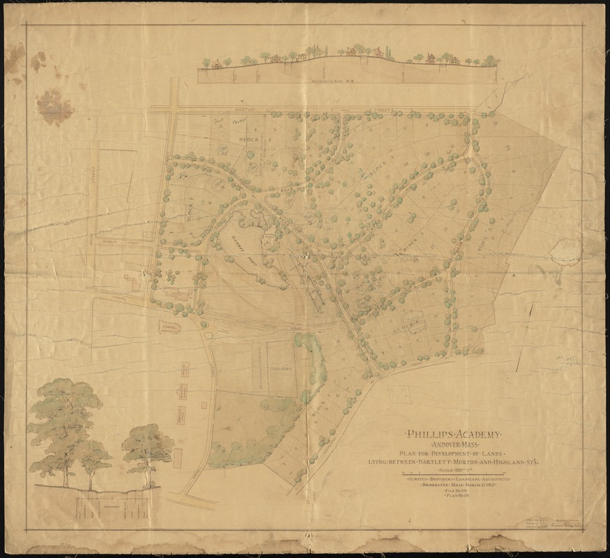 Phillips Academy Andover Mass Norman B Leventhal Map