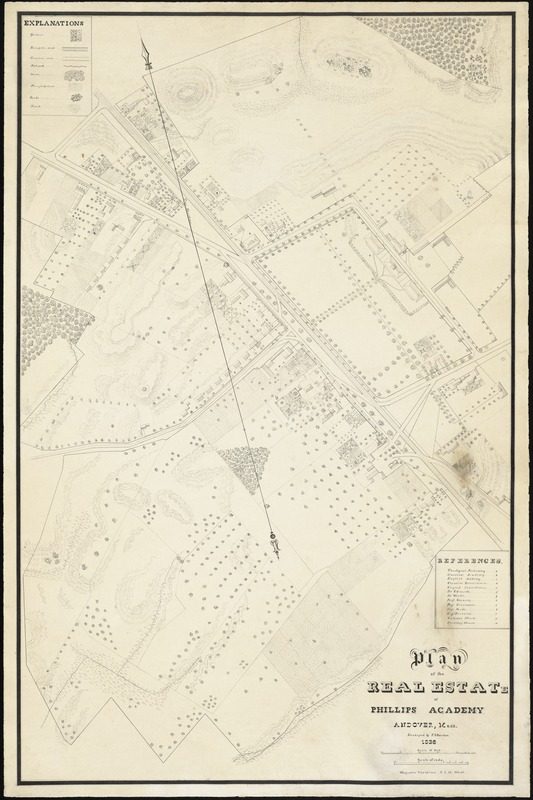 Plan of the real estate of Phillips Academy, Andover, Mass.